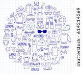 sale shopping market internet... | Shutterstock .eps vector #614214269