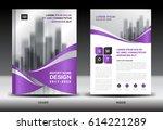 annual report brochure flyer... | Shutterstock .eps vector #614221289