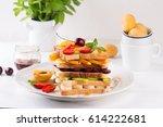 creative modern kitchen....   Shutterstock . vector #614222681