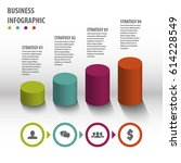 abstract infographics template. ... | Shutterstock .eps vector #614228549