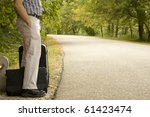 adult man waiting with... | Shutterstock . vector #61423474