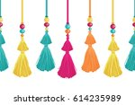 vector vibrant decorative... | Shutterstock .eps vector #614235989