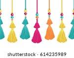 vector vibrant decorative... | Shutterstock .eps vector #614235989