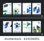 abstract vector business... | Shutterstock .eps vector #614236001