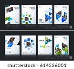 abstract vector business... | Shutterstock .eps vector #614236001