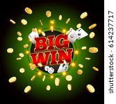 the word big win  surrounded by ... | Shutterstock .eps vector #614237717