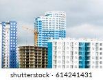 under construction modern high... | Shutterstock . vector #614241431
