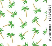 seamless palm trees pattern....   Shutterstock .eps vector #614243819