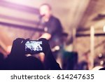 people at a party in nightclub | Shutterstock . vector #614247635