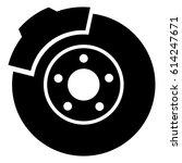 brake discs. car. auto. pads ... | Shutterstock .eps vector #614247671