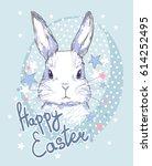happy easter bunny  | Shutterstock .eps vector #614252495