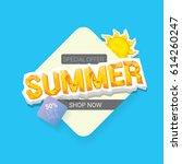 vector summer sale template... | Shutterstock .eps vector #614260247