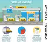 gas filling station vector flat ... | Shutterstock .eps vector #614260625