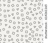 memphis seamless pattern.... | Shutterstock .eps vector #614261165