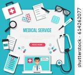 online medical concept banner... | Shutterstock .eps vector #614262077