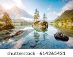 famous lake hintersee one of...   Shutterstock . vector #614265431