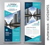business roll up. standee... | Shutterstock .eps vector #614266931