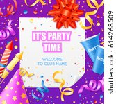 club party announcement...   Shutterstock .eps vector #614268509