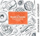 bakery illustration. vintage... | Shutterstock .eps vector #614268869