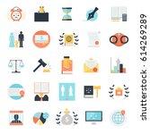 law icon set of twenty five... | Shutterstock .eps vector #614269289