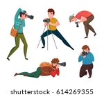 male photographer in different...   Shutterstock .eps vector #614269355