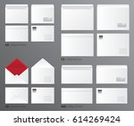 paper office template set of... | Shutterstock .eps vector #614269424