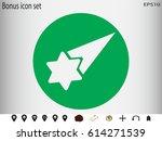 meteorite star  icon  vector...