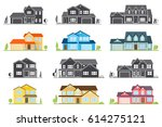 vector flat icon suburban... | Shutterstock .eps vector #614275121