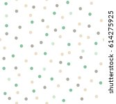 color seamless  polka dots... | Shutterstock .eps vector #614275925
