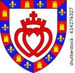 coat of arms of vendee is a... | Shutterstock .eps vector #614276327