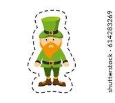 leprechaun comic character icon | Shutterstock .eps vector #614283269