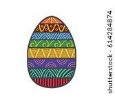 easter egg colorful | Shutterstock .eps vector #614284874