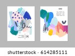 set of creative universal art... | Shutterstock .eps vector #614285111