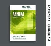 green cover for journal ... | Shutterstock .eps vector #614286605