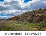 several entrances of old... | Shutterstock . vector #614290289