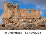 abandoned medieval castle near... | Shutterstock . vector #614290295