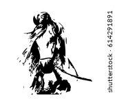 hand drawn horse  vector... | Shutterstock .eps vector #614291891