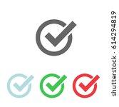 set check mark icon  vector...