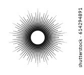 dots drawing of rays of the sun ... | Shutterstock .eps vector #614294891