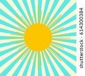summer shining sun on the sky... | Shutterstock .eps vector #614300384