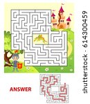 help knight find path to...   Shutterstock .eps vector #614300459