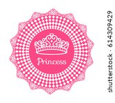 princess crown. frame from... | Shutterstock .eps vector #614309429