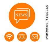 news icon | Shutterstock .eps vector #614313329