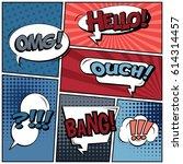 abstract creative concept comic ... | Shutterstock .eps vector #614314457