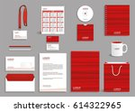 corporate identity design... | Shutterstock .eps vector #614322965