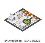 isometric industrial landscape... | Shutterstock .eps vector #614330321