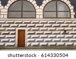 wall in the so called stallhof... | Shutterstock . vector #614330504