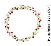 wreath of a cranberry.garland... | Shutterstock . vector #614337149
