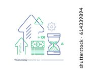time is money concept ...   Shutterstock .eps vector #614339894