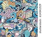 cartoon cute doodles hand drawn ... | Shutterstock .eps vector #614341529